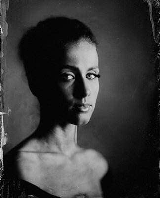Picture of Stanca on wet plate collodion