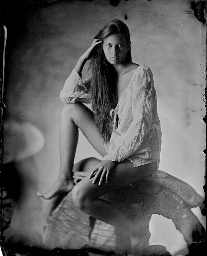 Picture of Teo wet plate collodion photography ambrotype